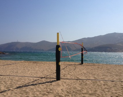 Exercise by playing beach volley