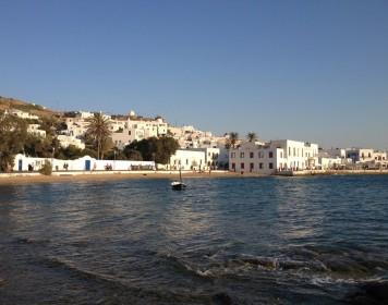 Evening walk in Mykonos town