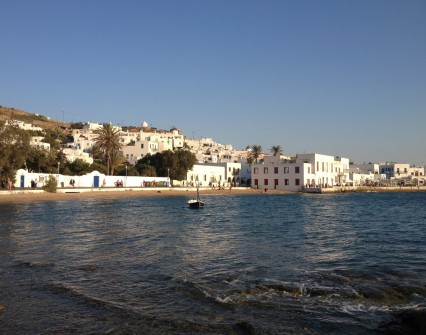 Evening walk in Mykonos town