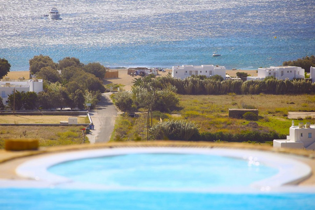 View of Agrari Beach from the pool